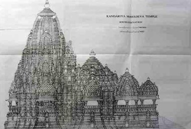Khajuraho Drawings Gallery | Temple Survey Project (Northern Region), Bhopal